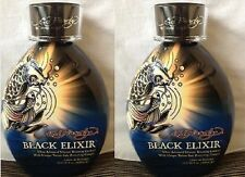 Lot of 2 Ed Hardy Black Elixir 90xxx Advance Silicon Bronzing Tanning Lotions