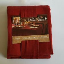 Pioneer Woman Tablecloth Harland Fabric Yarn Dyed Barn Red 60 x 84