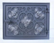 old cast iron fire door / bread oven door / stove smoke / COLORS / 325 x 255mm