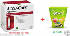 May 18 EXP Combo Kaloree 1 + Accu Chek Performa 100 Test Strips for Blood Sugar