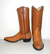 Mens 9.5 A Cowboy Boots Narrow Dan Post Vintage Country Western Tan Womens 10.5