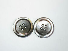 2 18mm 4 Hole Mother of Pearl Vintage Buttons 1960-1970s
