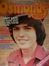 OSMONDS WORLD MAGAZINE - ISSUE 22 AUGUST 1975 (INCLUDES JAY POSTER)