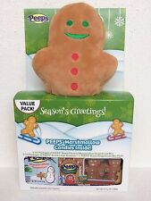 PEEPS GINGERBREAD PLUSH 6 BOXES MARSHMALLOW GIFT SET XMAS DECOR FOOD CANDY TOY