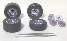 Chrome Mag Wheels & Tyres, Disc's & Callipers - Axel's - 1:18 scale SET OF 4