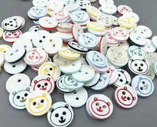 100pcs Bear Head Round Resin Buttons Fit Sewing crafts Scrapbooking 13mm