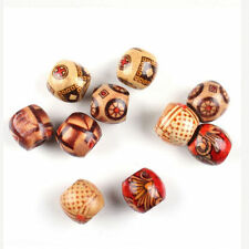 100Pcs Mixed Wood Round Beads for Jewelry Making Loose Spacer Charms Bead 10mm