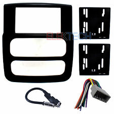 Radio Replacement Dash Kit 2-DIN w/Harness/Antenna for Dodge Ram Satin Black