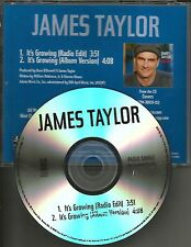JAMES TAYLOR It's Growing w/ RARE RADIO EDIT TST PRESS PROMO DJ CD single  2008
