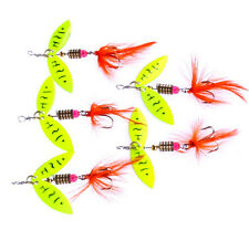 Feather Spoon Hook Lure Hard Paillette Bait HOT Tackle 5Pcs Fishing Fishing