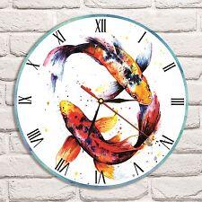 Reloj De Pared pez Koi Color Vinyl Record De Diseño Hogar Tienda Oficina coleccionista de arte 2
