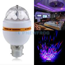 B22 Colorful Auto Rotating RGB LED Bulb Stage Light Party Lamp Disco 3W Yellow