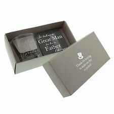 Father of the Bride - Whisky Glass & Coaster Set Wedding Thank you Gift