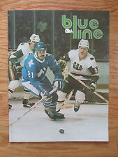 The NEW ENGLAND WHALERS vs EDMONTON OILERS 1979 BLUELINE Program WAYNE GRETZKY