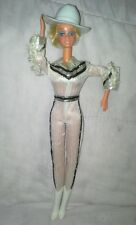 Vintage 1980 #1757 Western Barbie doll winking White & Black Jumpsuit with Hat