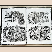 76 Pages Selected Skull Design Sketch Flash Book Tattoo Art Supplies A4 ST