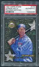 1997 Topps Stars Vernon Wells RC #115 Signed Autograph PSA/DNA