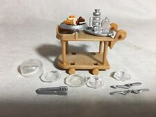 Calico critters/sylvanian families Tea Cart With Accessories