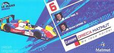 2009 Team Oreca Matmut Courage LMP1 Le Mans Series postcard
