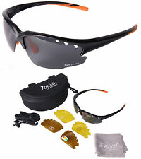 Black Mens & Womens Polarized SUNGLASSES FOR SPORT Interchangeable lenses UV400