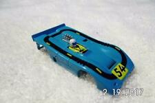 A/FX BLUE  #54 MCLAREN XLR Can Am BLACK TRACK   aurora afx ho slot car body