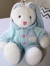 Super Soft Easter Bunny Rabbit Blue Baby Boy Toddler Plush Dandee Lovey Toy