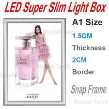 A1 87x60CM Snap Frame Super Slim Light Box Menu/Poster Display LED/Backlit Board