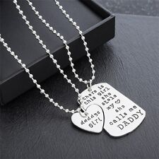 Fashion Daddy Dad Father And Daughter Pendant Necklaces Best  Family Gift