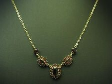 8kt 333 Oro Collier con guarnizione in Granata/catena d'oro