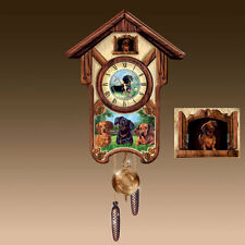 DELIGHTFUL DACHSHUND CUCKOO CLOCK PUPPY DOGS BY LINDA PICKEN IN STOCK NOW!