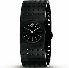 NEW in Box Calvin Klein Grid Women Quartz Watch K8323302  Wrist Band Size 6.5""