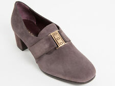 New Donna Serena Brown Suede  with buckle Made in Italy Shoes Size 38 US 8