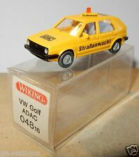 WIKING HO 1/87 VW VOLKSWAGEN GOLF ADAC STRABENWACHT in BOX