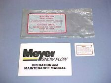 1983 1984 1985 MEYER SNOW PLOW OWNERS MAINTENANCE MANUAL SERVICE GUIDE 83 84 85