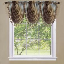 Achim Ombre Waterfall Valance- OMWFVLCH06 Window Curtain NEW