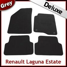 RENAULT LAGUNA ESTATE 01-07 Tailored LUXURY 1300g Car Mats (2 Clip Type) GREY
