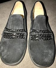 Step2wo Imelda Black Suede Slip On Shoes BN Boxed EU 35 UK 2