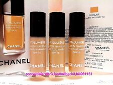 Chanel Vitalumiere Satin Smoothing Fluid Makeup SPF15 Foundation Clair#20(7.5ml)