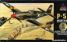Accurate Miniatures P-51 Allison Engine 20mm Cannon Armed Mustang 1/48 Fighter