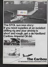DE HAVILLAND CANADA DHC-4 CARIBOU #CF-OYE STOL SUCCESS STORY IMPERIAL OIL AD