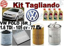 SERVICESATZ ÖL CASTROL EDGE 5W30 + FILTER VW POLO (6R_) 1.6 TDI 77 KW 105CV
