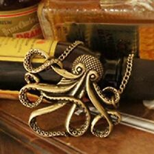 Fashion Vintage Bronze Pirate octopus women necklace jewelry accessories Pendant