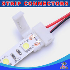 10 X 10mm 2 pins strip to power connector IP20 snap led strip