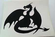 BLACK DRAGON RUB-ON car window STICKER NEW OFFICIAL MERCHANDISE