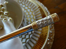 AEGEAN WEAVE GOLD BY WALLACE STERLING SILVER FLATWARE SET 8 SERVICE 35 PIECES