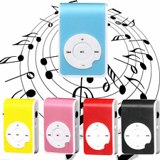 Red Mini Clip Metal USB MP3 Music Player Support Micro SD TF Card Music Media