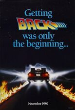 BACK TO THE FUTURE II MOVIE POSTER 2 Sided ORIGINAL Advance 27x40 MICHAEL J. FOX