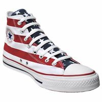 CONVERSE ALL STAR CHUCKS SCHUHE EU 37,5 UK 5 USA FLAG PUNK STARS & STRIPES ROT