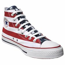 Converse All Star Chuck zapatos UE 41 UK 7,5 EE. UU. Flag punk Stars & Stripes rojo