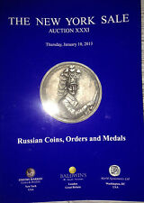 NY Sale Russian Gold Silver Coins Medals Orders Markov Auction XXXI Jan. 2013